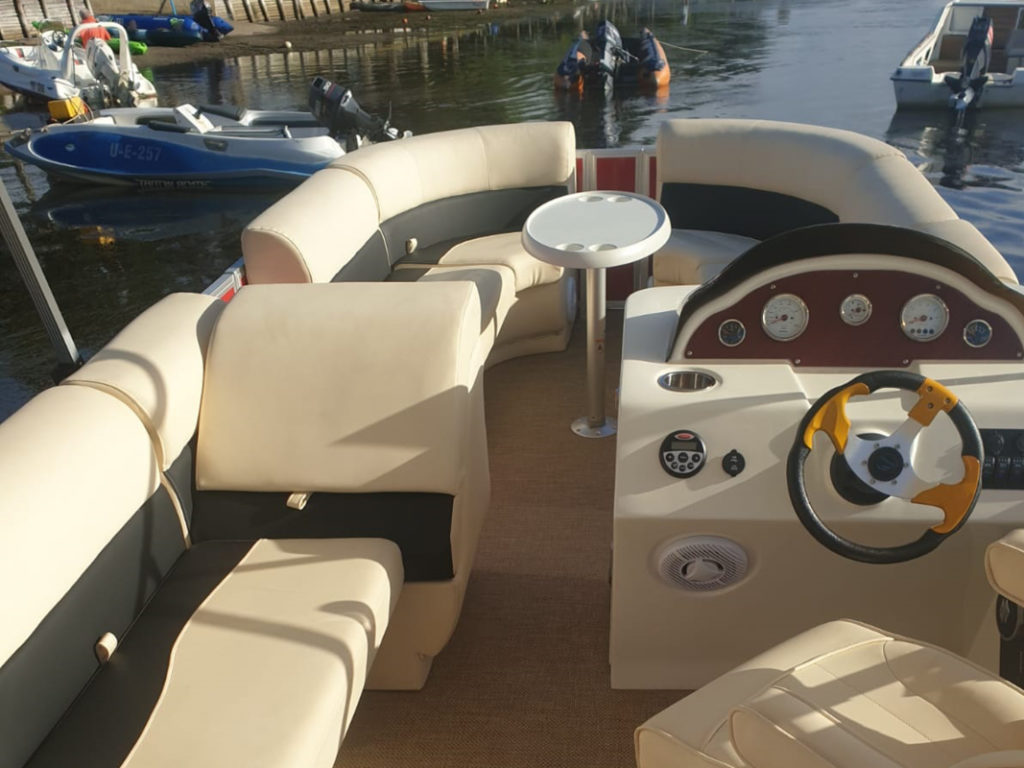 party, barge, pontoon, for, sale, boats, nautitech, nauti, tech, specs, features, furnishings, sound, options, sundeck, changing room, order, buy, price