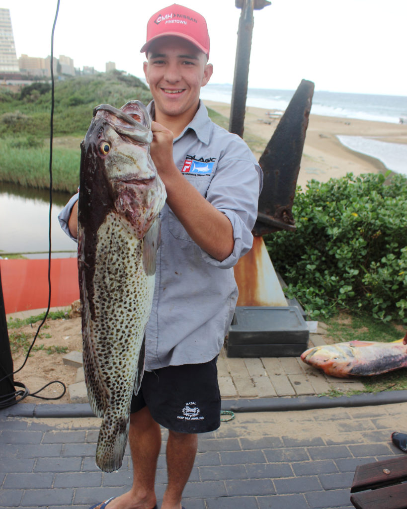 Dylan Egling NDSAA Natal Interzonals Bottom Fishing Competition Warnadoone Warner Beach Amanzimtoti KZN by Nauti-Tech Suzuki