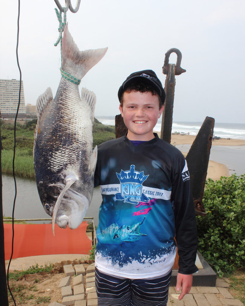 Owen Barclay NDSAA Natal Interzonals Bottom Fishing Competition Warnadoone Warner Beach Amanzimtoti KZN by Nauti-Tech Suzuki
