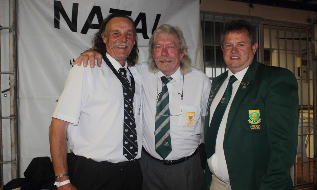 Winning skipper Keith Lowes NDSAA Natal Interzonals Bottom Fishing Competition Warnadoone Warner Beach Amanzimtoti KZN by Nauti-Tech Suzuki