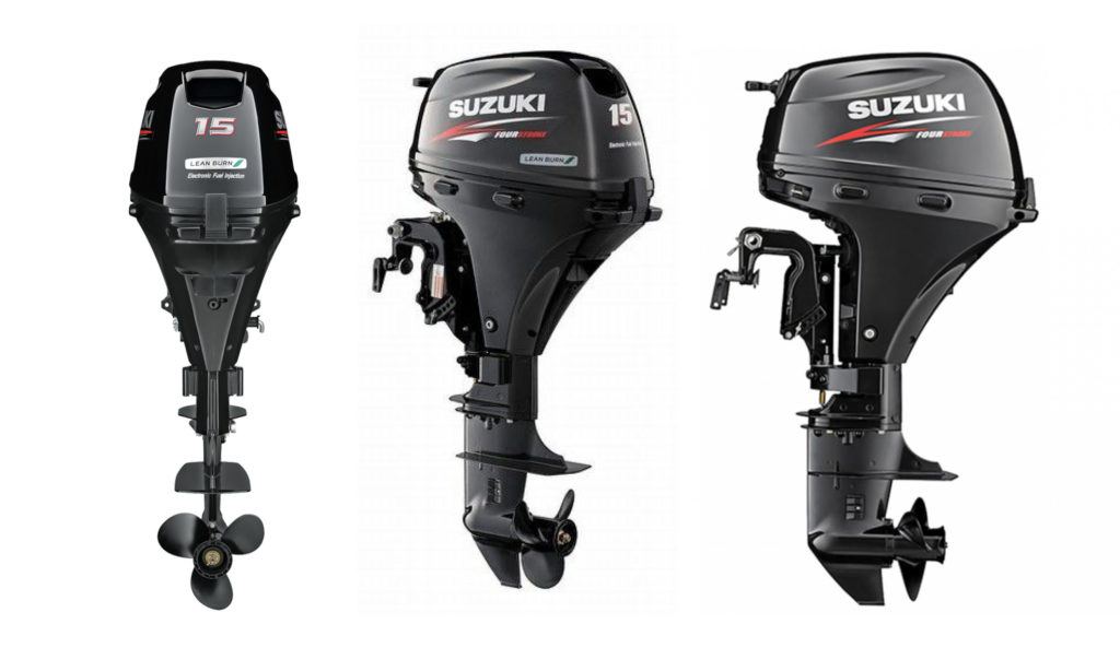 Suzuki DF15ATL Remote Steer Outboard Motor by Nauti-Tech Suzuki