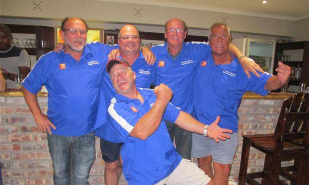 Members of Diaz Deep Sea Club, ski-boat club in Eastern Cape, in the clubhouse at Kenton on Sea, by Nauti-Tech Suzuki