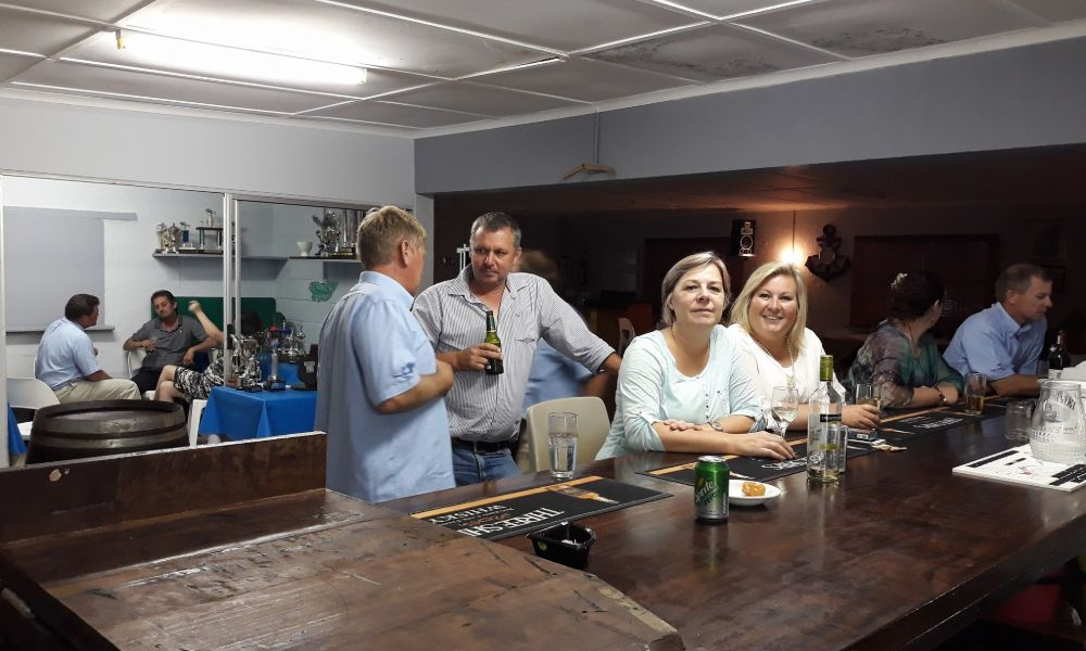 Socialising, food and drink at Overberg Boat Club in Gansbaai by Nauti-Tech Suzuki