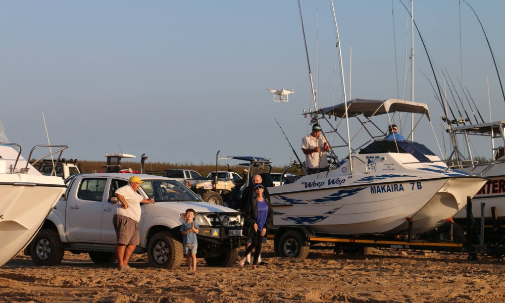 Surf luanches and Game Fishing at St Lucia Ski Boat Club in KZN South Africa by nauti-Tech Suzuki
