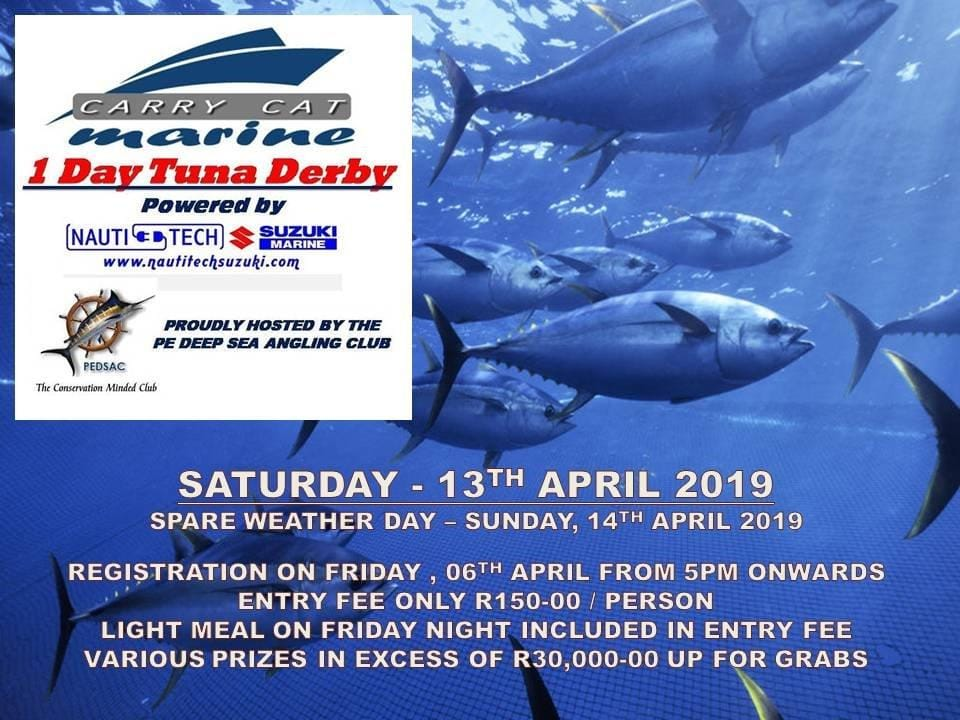 PE One Day tuna Derby by Carry cat and Nauti-Tech Suzuki