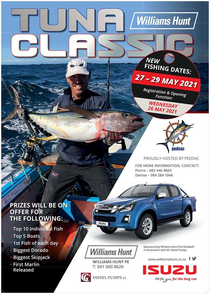 tuna, classic, port elizabeth, pedsac, pe, 2021, deep sea, fishing competition, off the hook, restaurant, menu, contact, number, how to enter, registration, rules, weigh in, enter, prizes