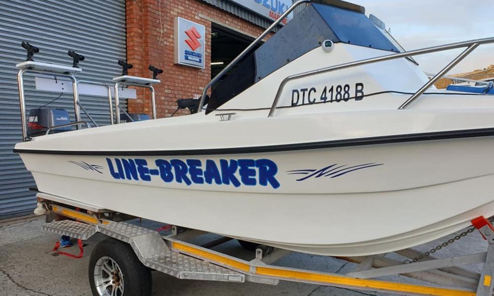 Line-Breaker Newly Refurbished Boat by Nauti-Tech Suzuki