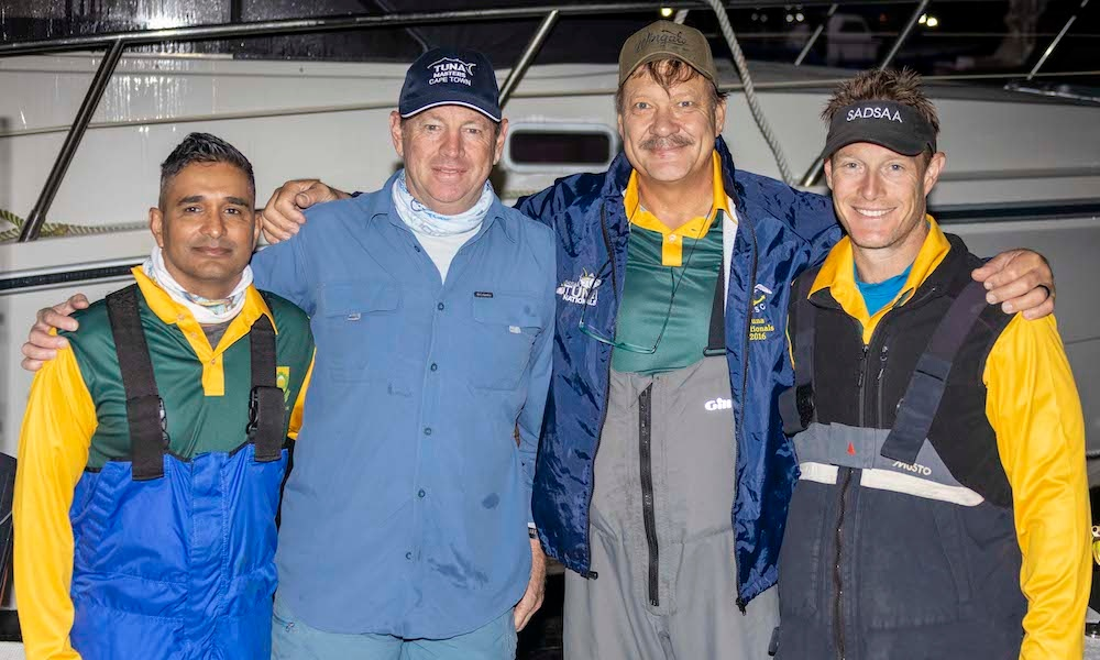 Team SA Proteas at 2019 SADSAA Tuna Nationals at Atlantic Boat Club in Hout Bay by Nauti-Tech Suzuki