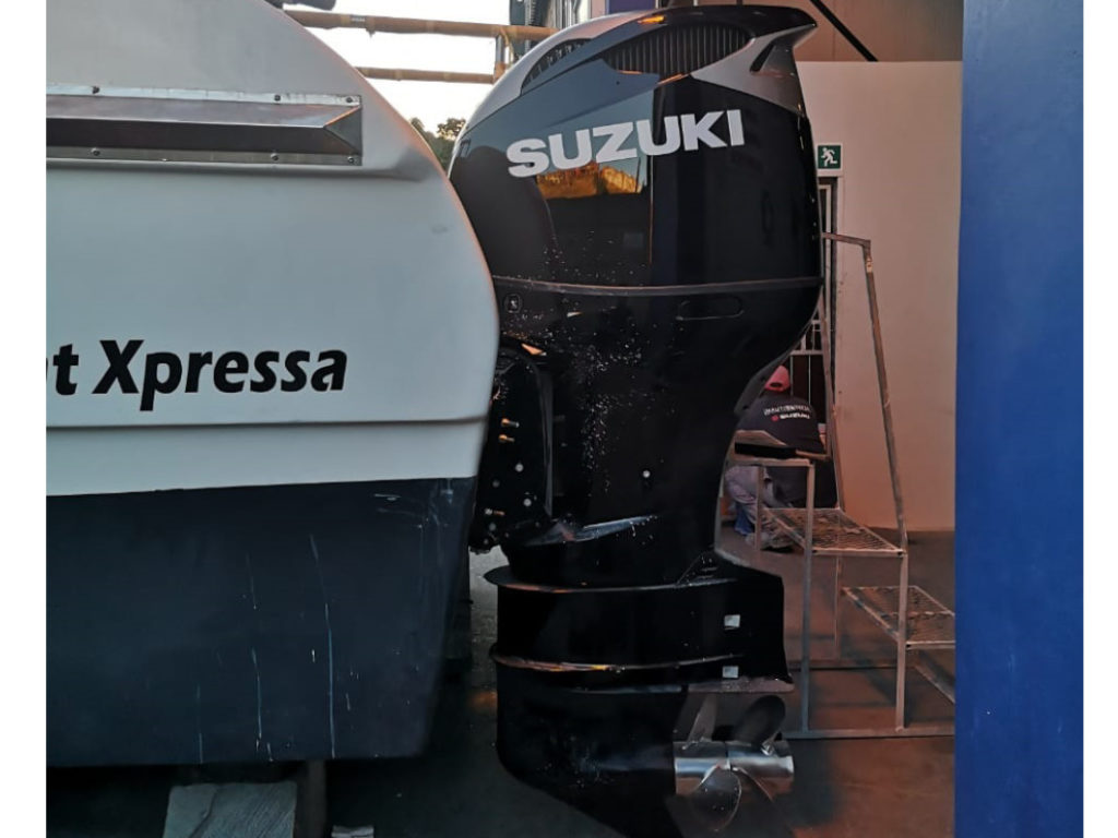 Ukwabelana SAIAB Research Boat Outboard Repower Suzuki DF325 by Nauti-Tech Suzuki