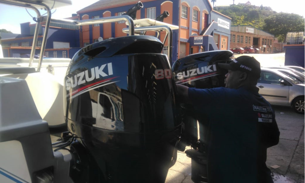repower, boat, new, outboards, suzuki, df80, zee koets, cat, ski boat