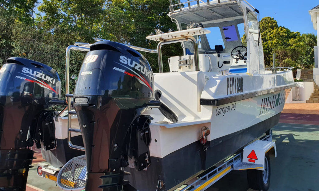 used, second, hand, 2nd, carrycat, carry, cat, 740, ski, boat, offshore, fishing, lowrance, raymarine, suzuki, df90, 90hp, for sale, south, africa, port, elizabeth, eastern, cape, price, how much, buy, trade, certified, trailer