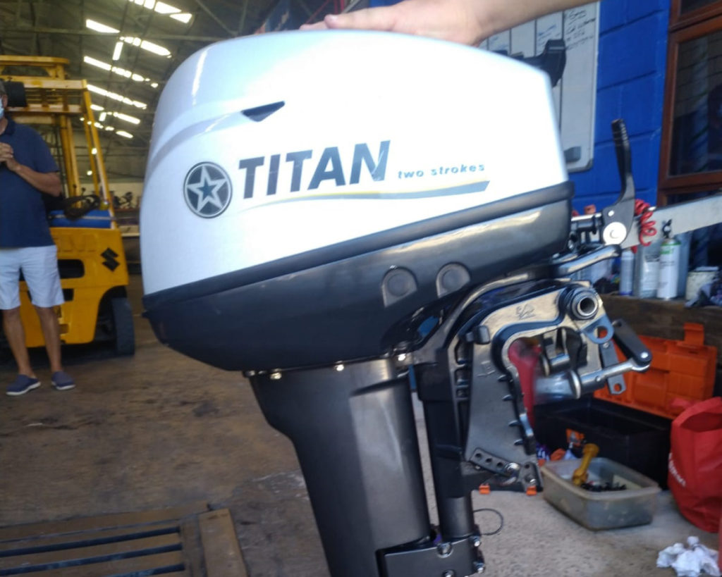 titan, outboard, for sale, 10hp, small, boat, engine, used, second hand, port elizabeth, contact, info, price